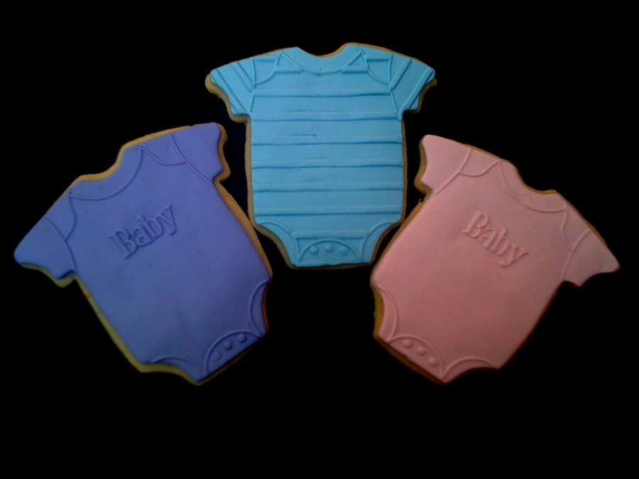 Onesies - Baby Shower Cookies  on Cake Central