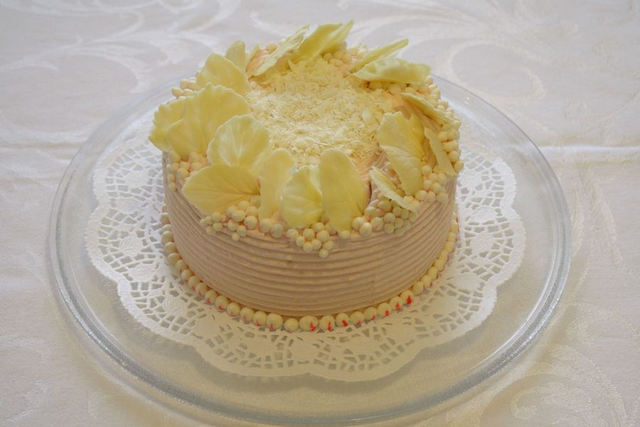 White Chocolate Pearly Cake on Cake Central