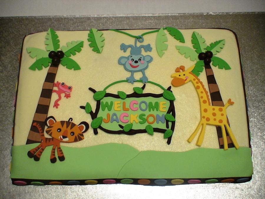 Fisher Price Jungle Baby Shower Cake