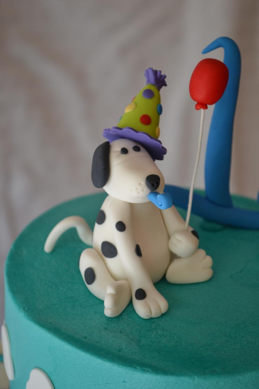 Dog Birthday Decorations 1st Birthday Cake Puppy Dog Theme Cakecentralcom