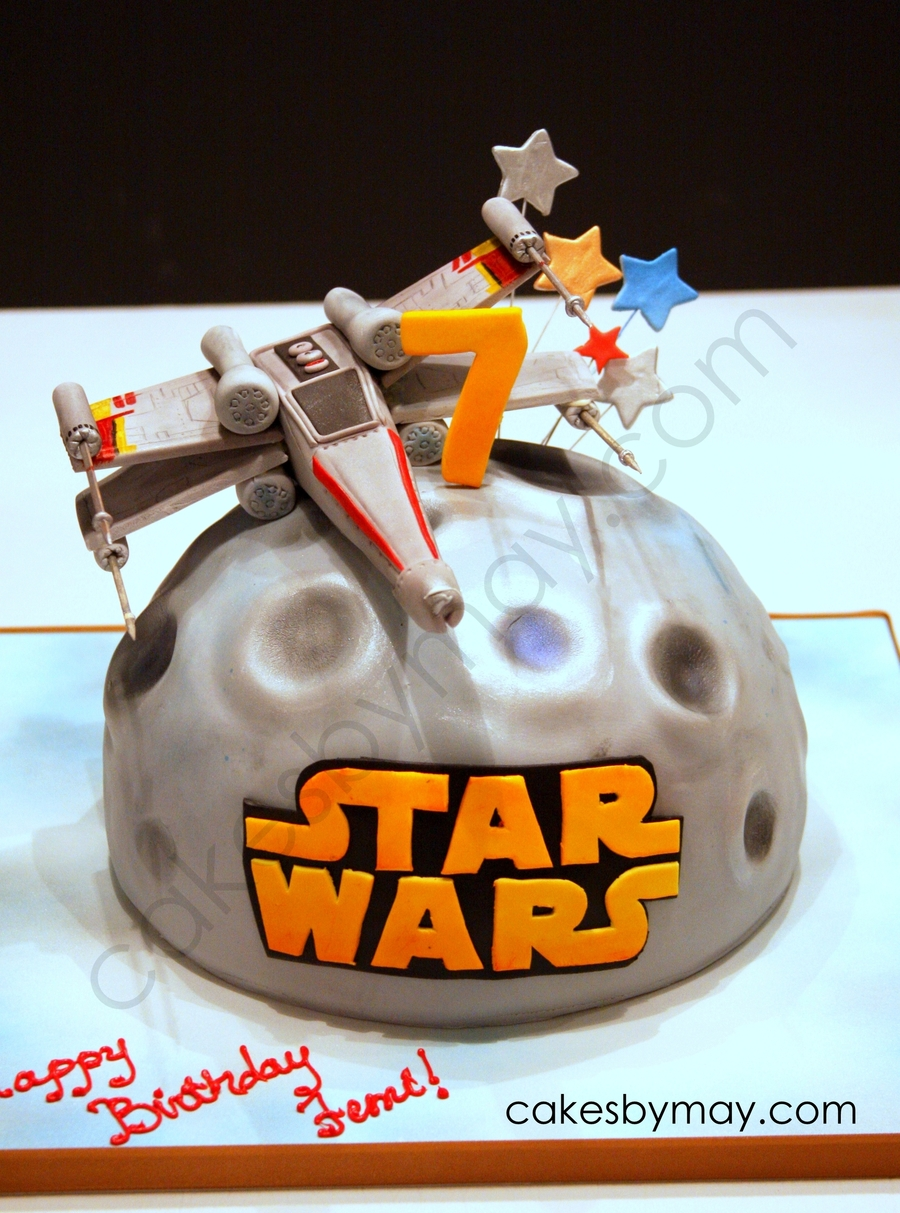 Star Wars X Wing Fighter Birthday Cake Cakecentral Com