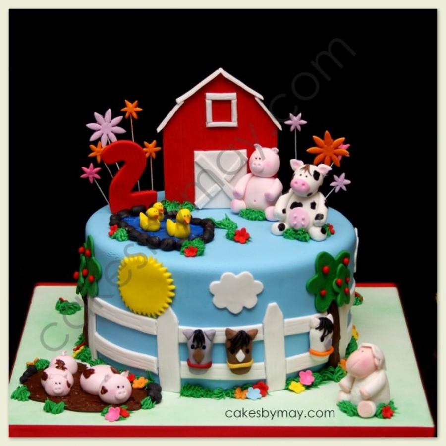 Surprising Barnyard Birthday Cake Cakecentral Com Funny Birthday Cards Online Inifodamsfinfo