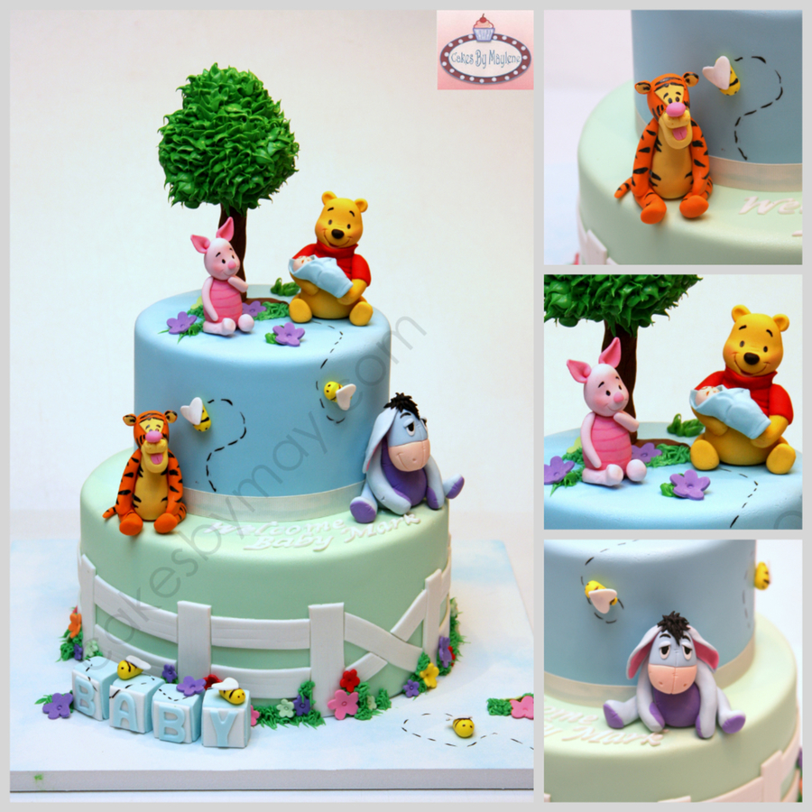 Winnie The Pooh And Friends Baby Shower Cake on Cake Central