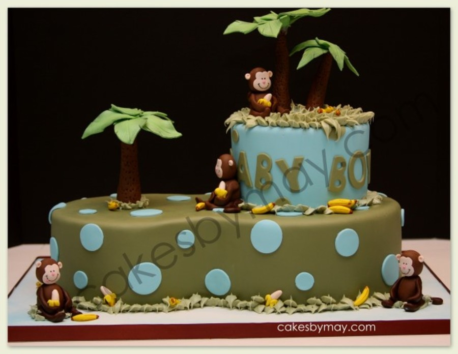 Monkey Jungle Baby Shower Cake on Cake Central