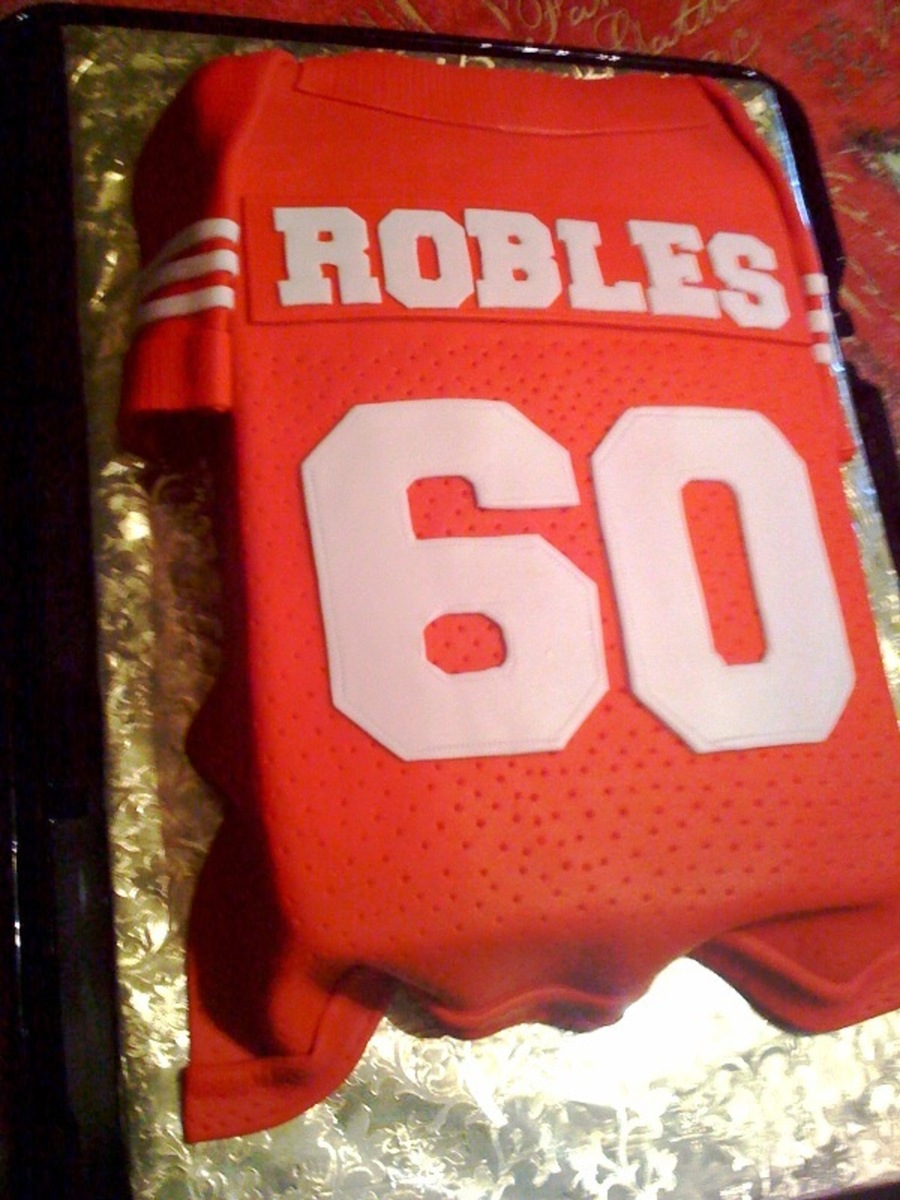 San Francisco Niner Jersey on Cake Central