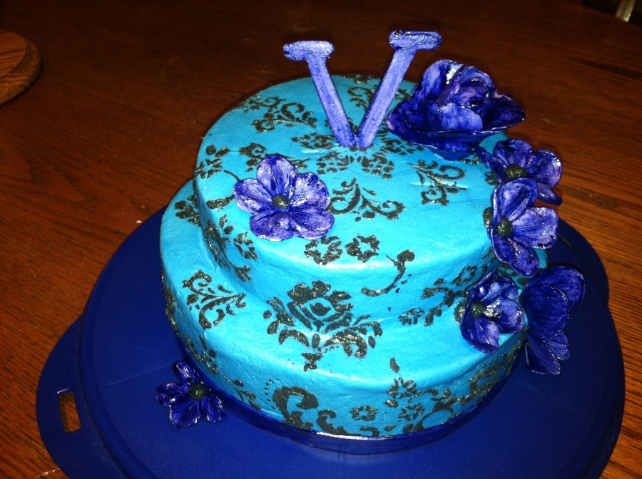 Purple And Blue on Cake Central