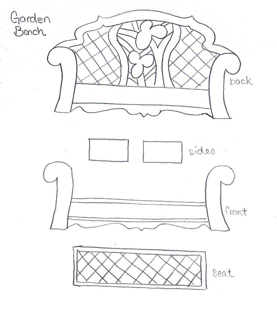 Garden Bench Template on Cake Central