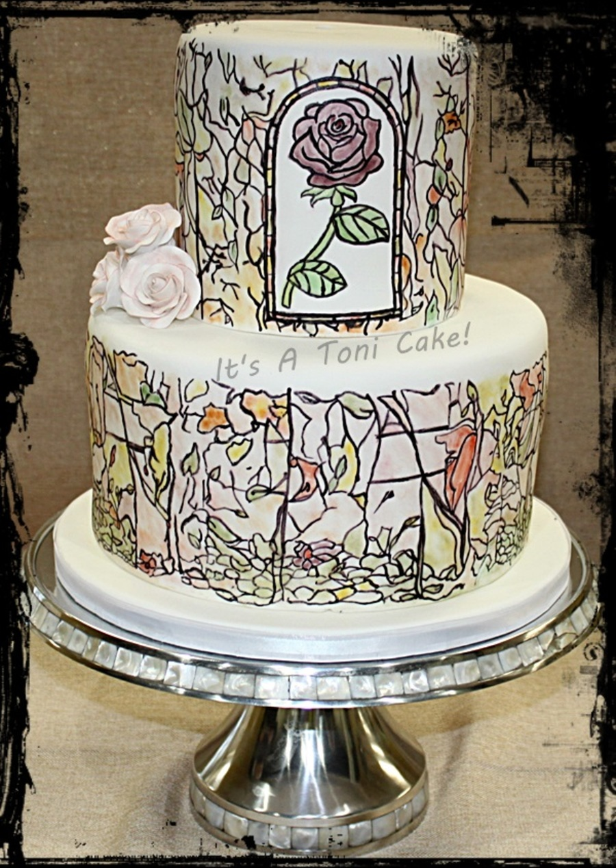 Beauty N Beast - CakeCentral.com