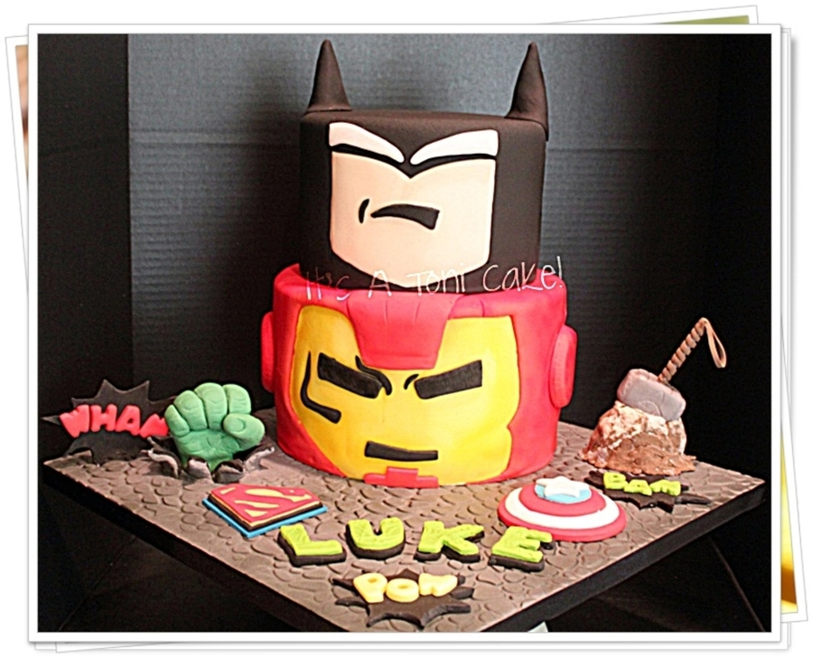 Classic Comic Super Heros on Cake Central