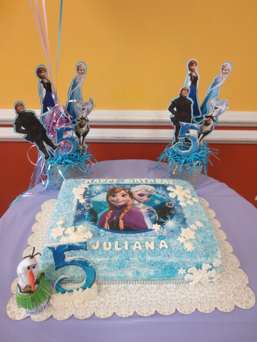 Pleasing Frozen 5Th Bday Cake Cakecentral Com Funny Birthday Cards Online Aboleapandamsfinfo