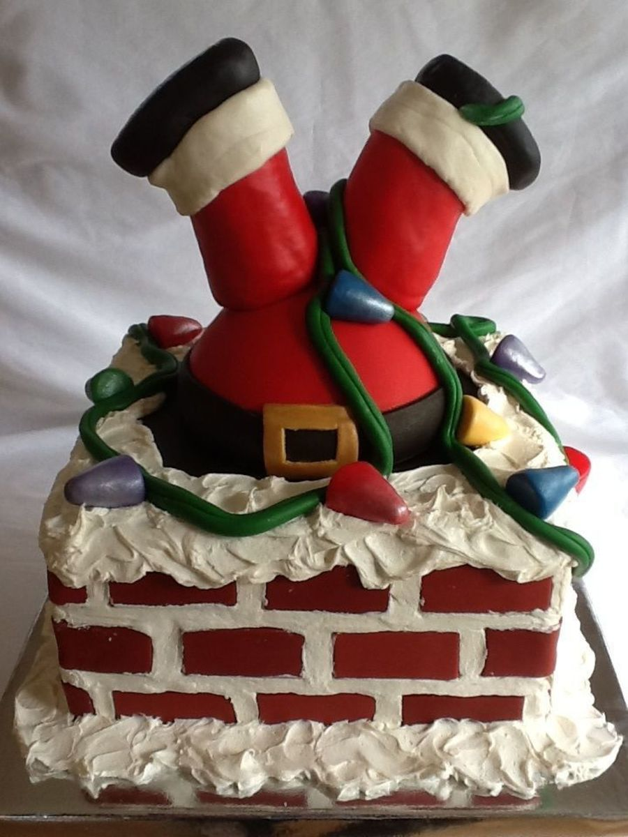 Santa Stuck In The Chimney on Cake Central