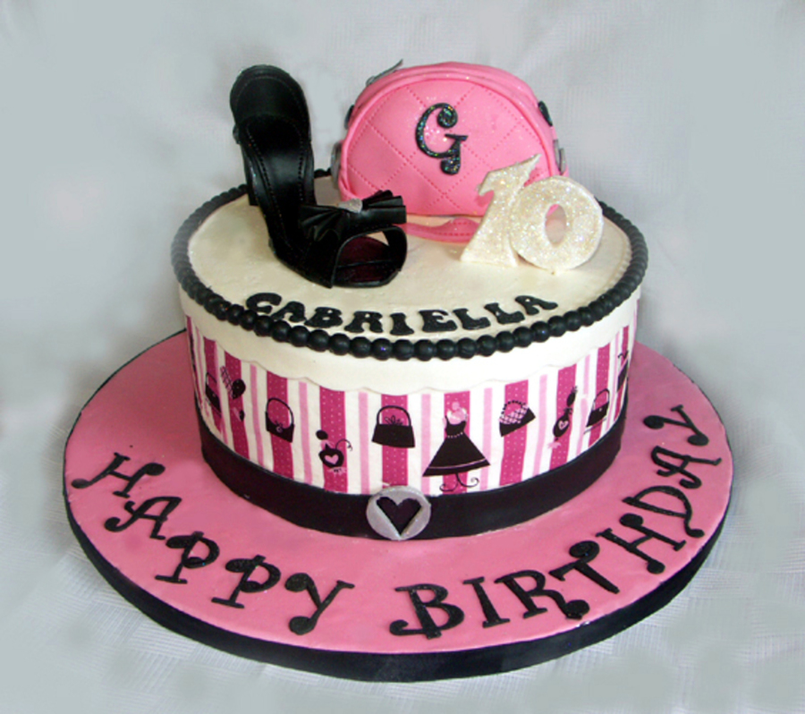 Fashion Glam Birthday Cake - CakeCentral.com