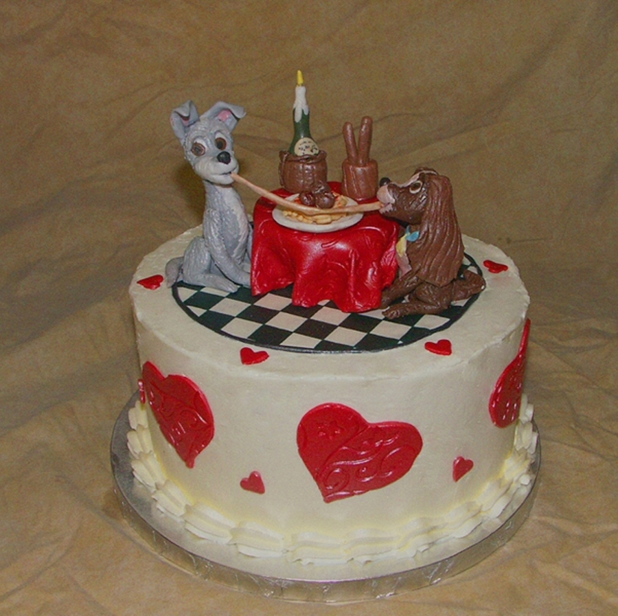 Lady And The Tramp Cake on Cake Central