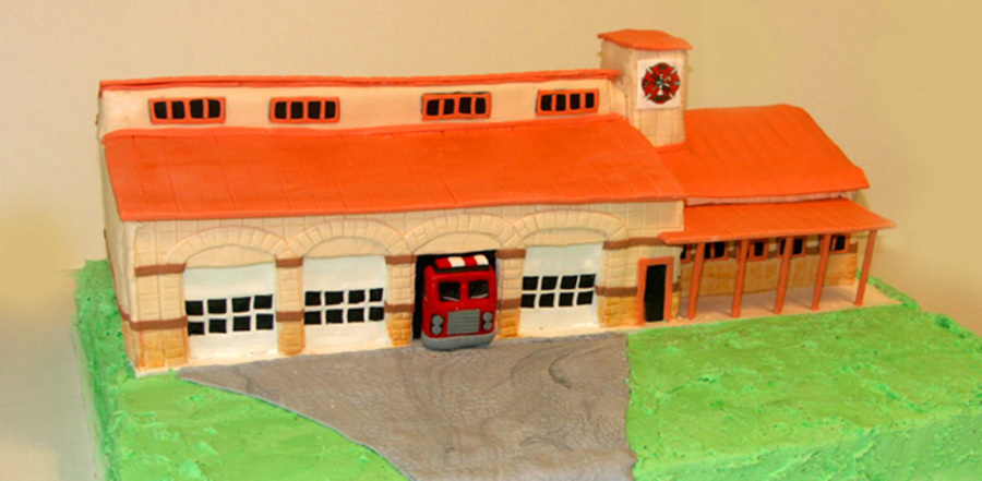 Fire Station Cake on Cake Central