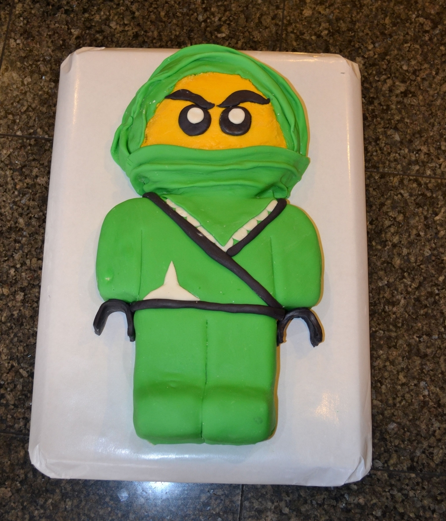 Green Ninja Lego Cake Cakecentral Com