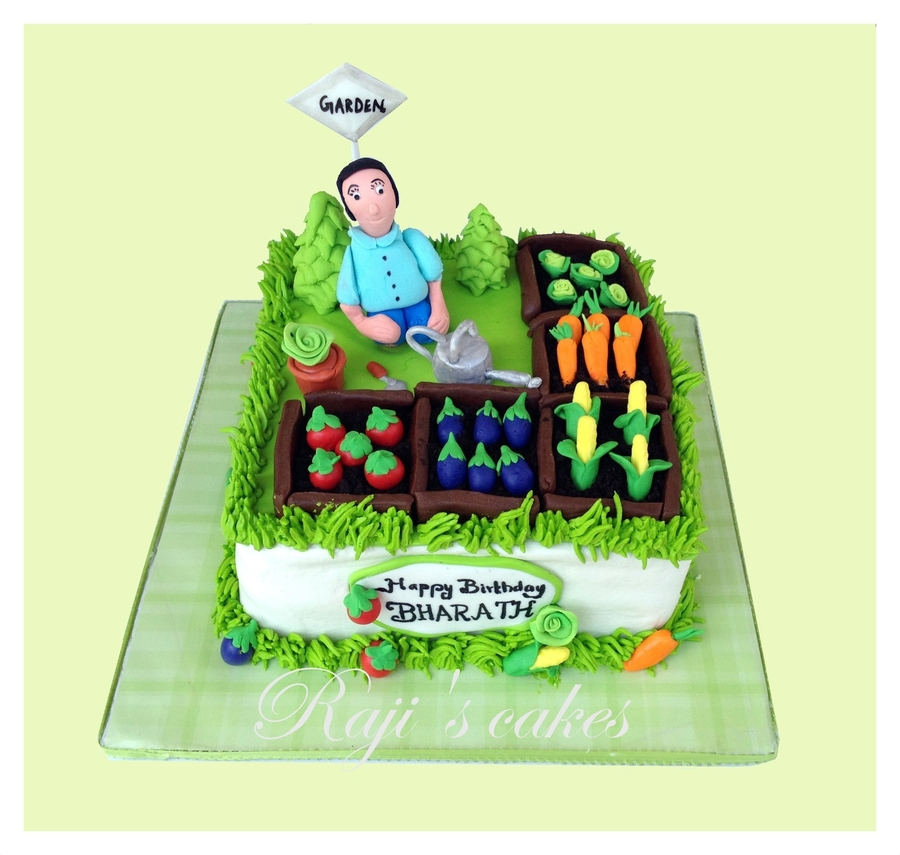 Vegetable Garden Cake! - CakeCentral.com