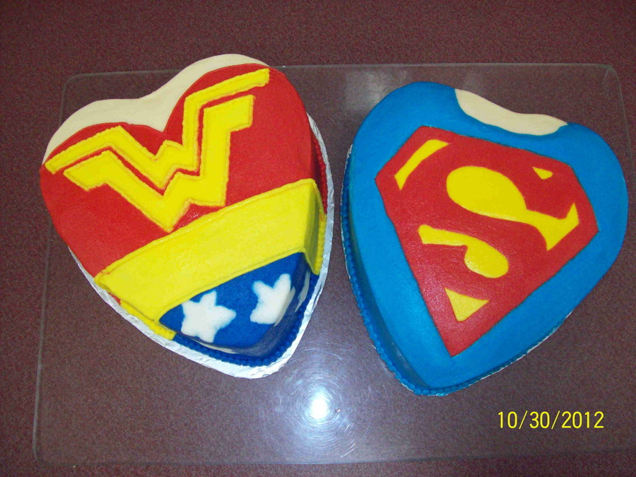 Super Hero Bridal Shower Wonderwoman And Superman All Buttercream on Cake Central