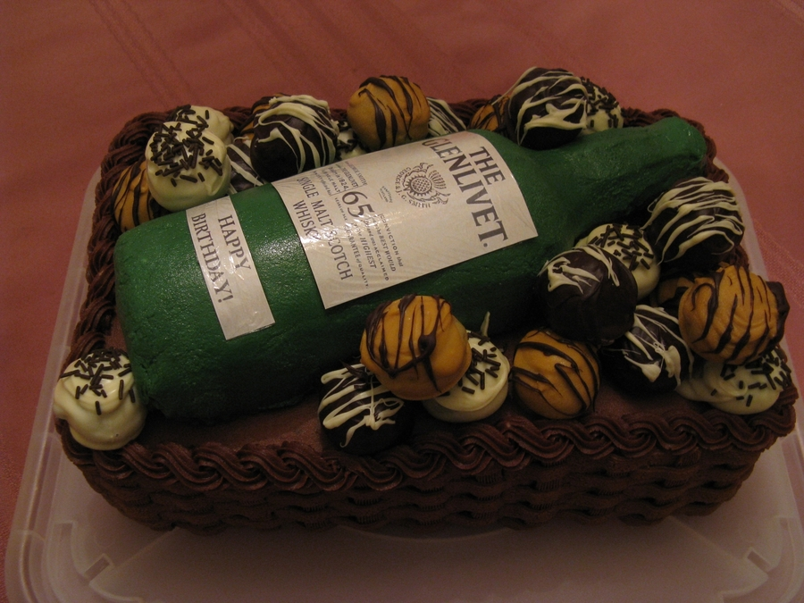 Bottle Of Scotch on Cake Central