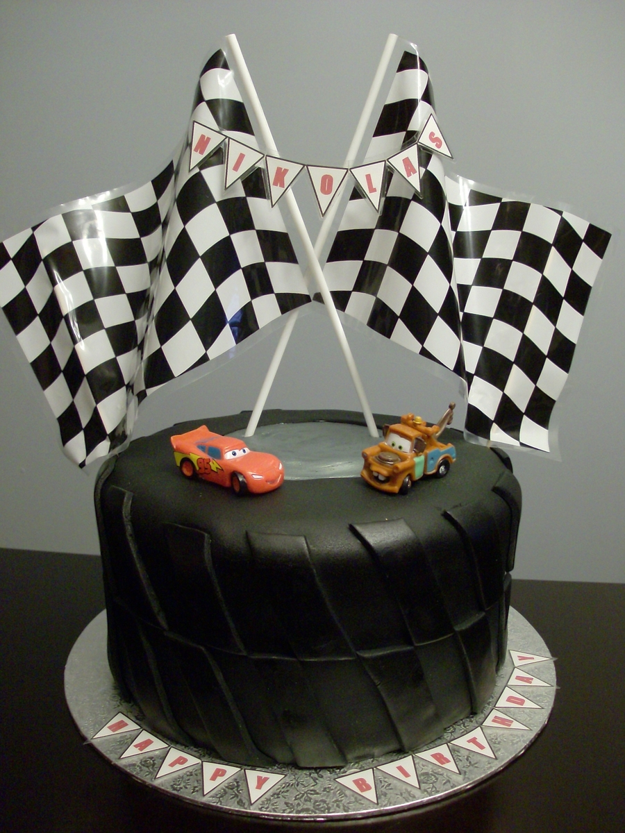 Cars Tire Cake on Cake Central