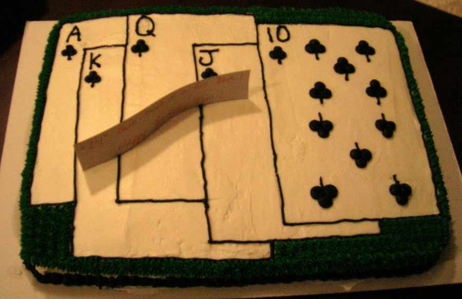 Poker Bday on Cake Central