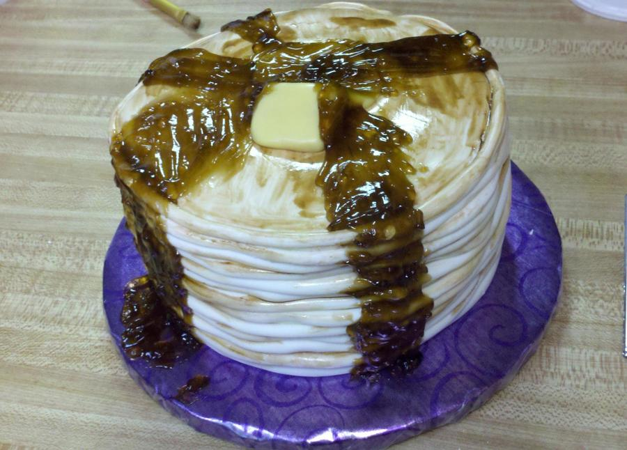Stack Of Pancakes on Cake Central