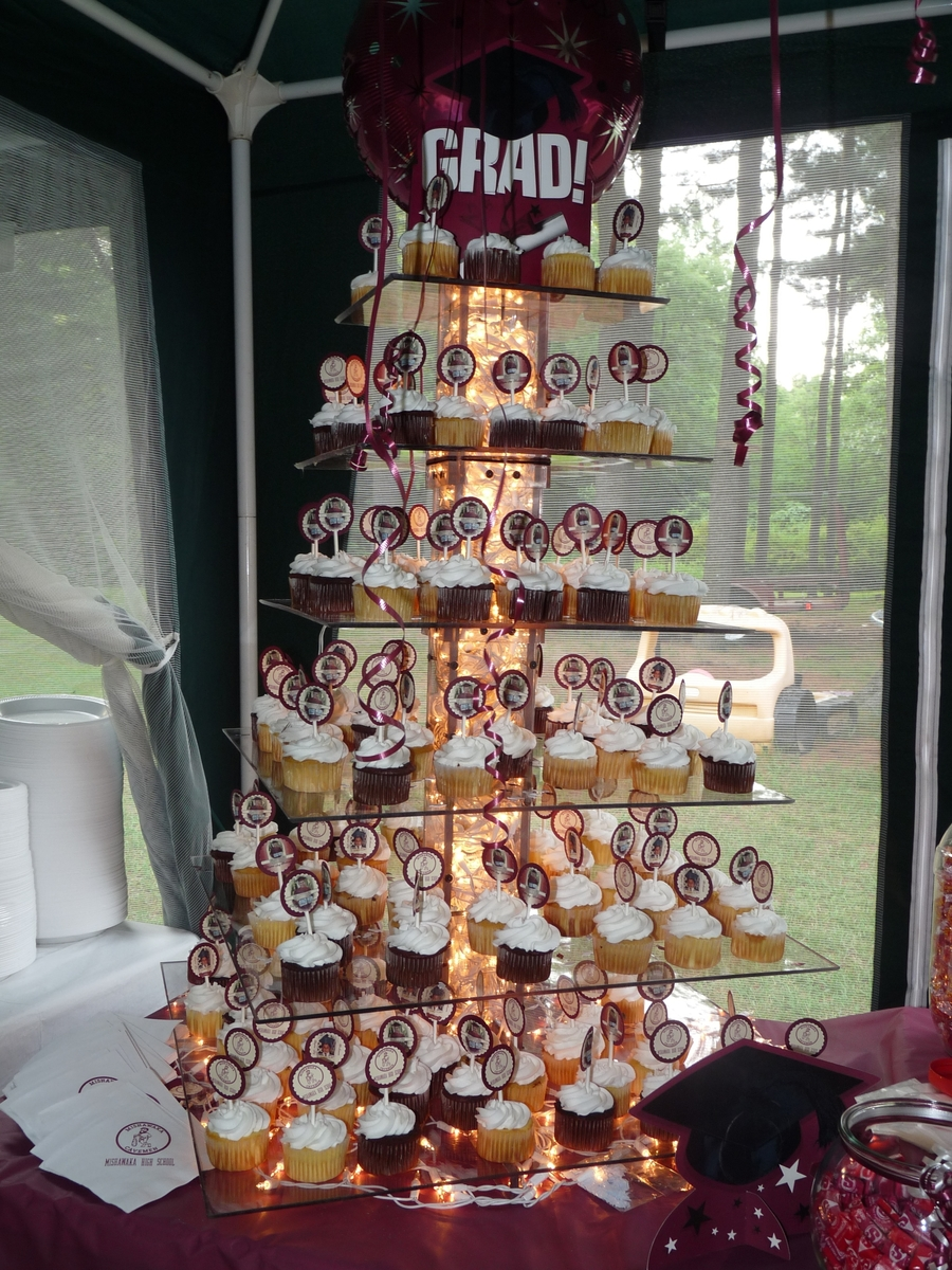 My Son S Graduation Cupcake Tower Cakecentral Com