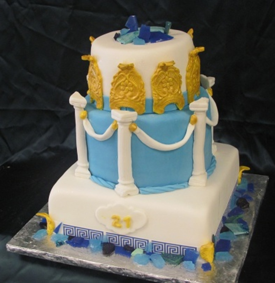 Greek Themed Birthday Cake Cakecentral Com