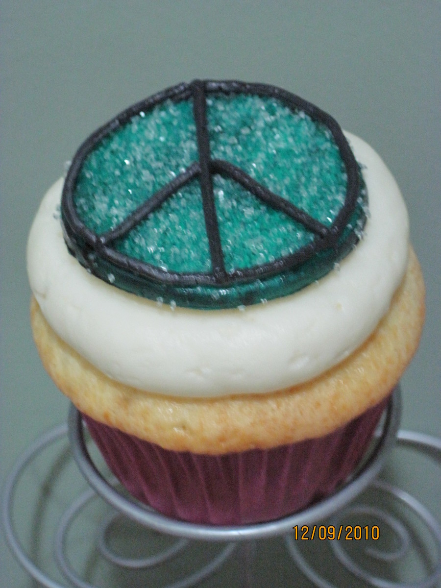 Peace Cupcakes on Cake Central