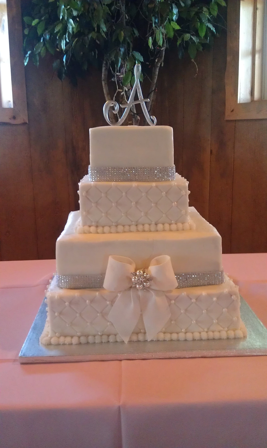 4 Tier Bling With Bow Cakecentral Com