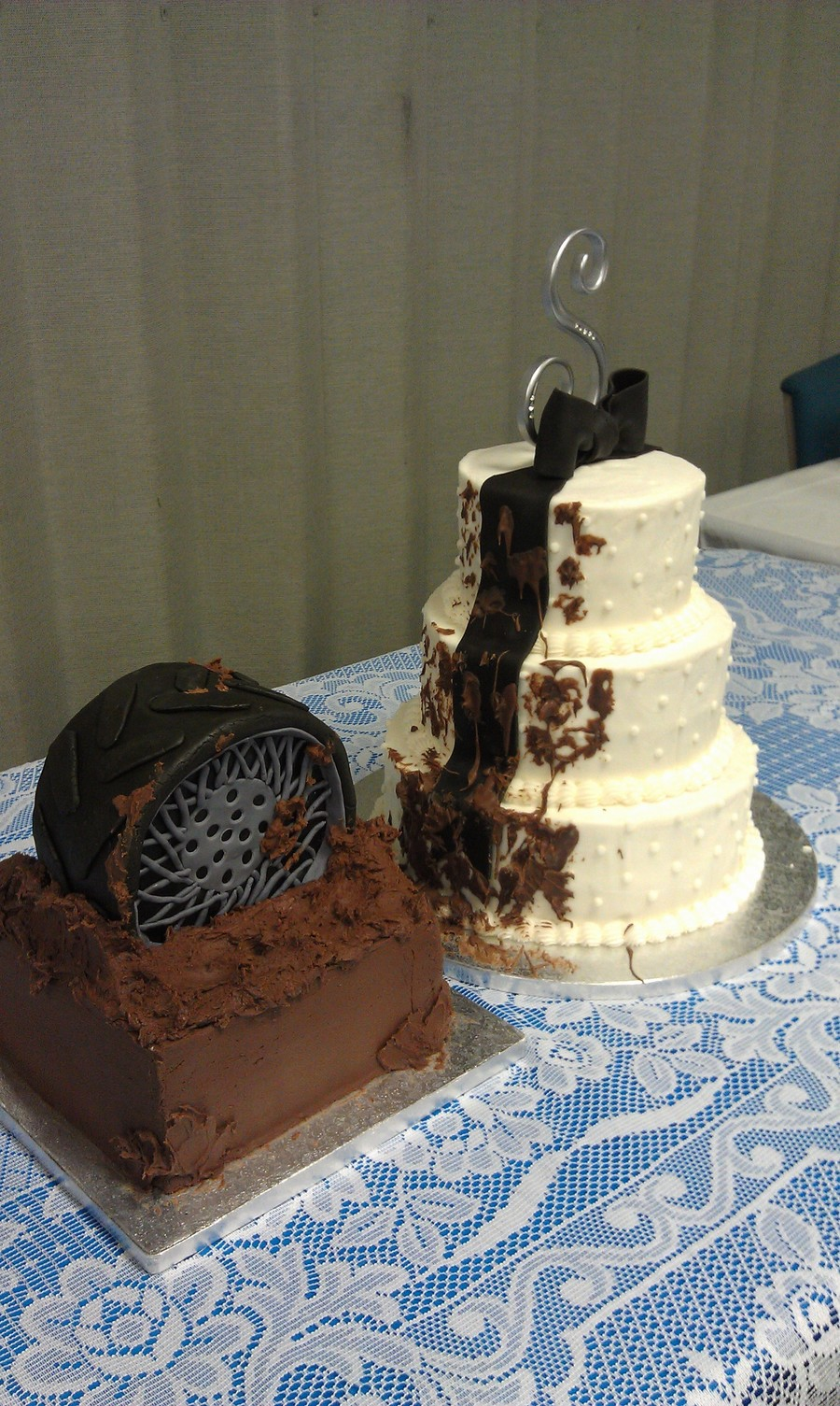 Wedding Cake/groom's Cake on Cake Central