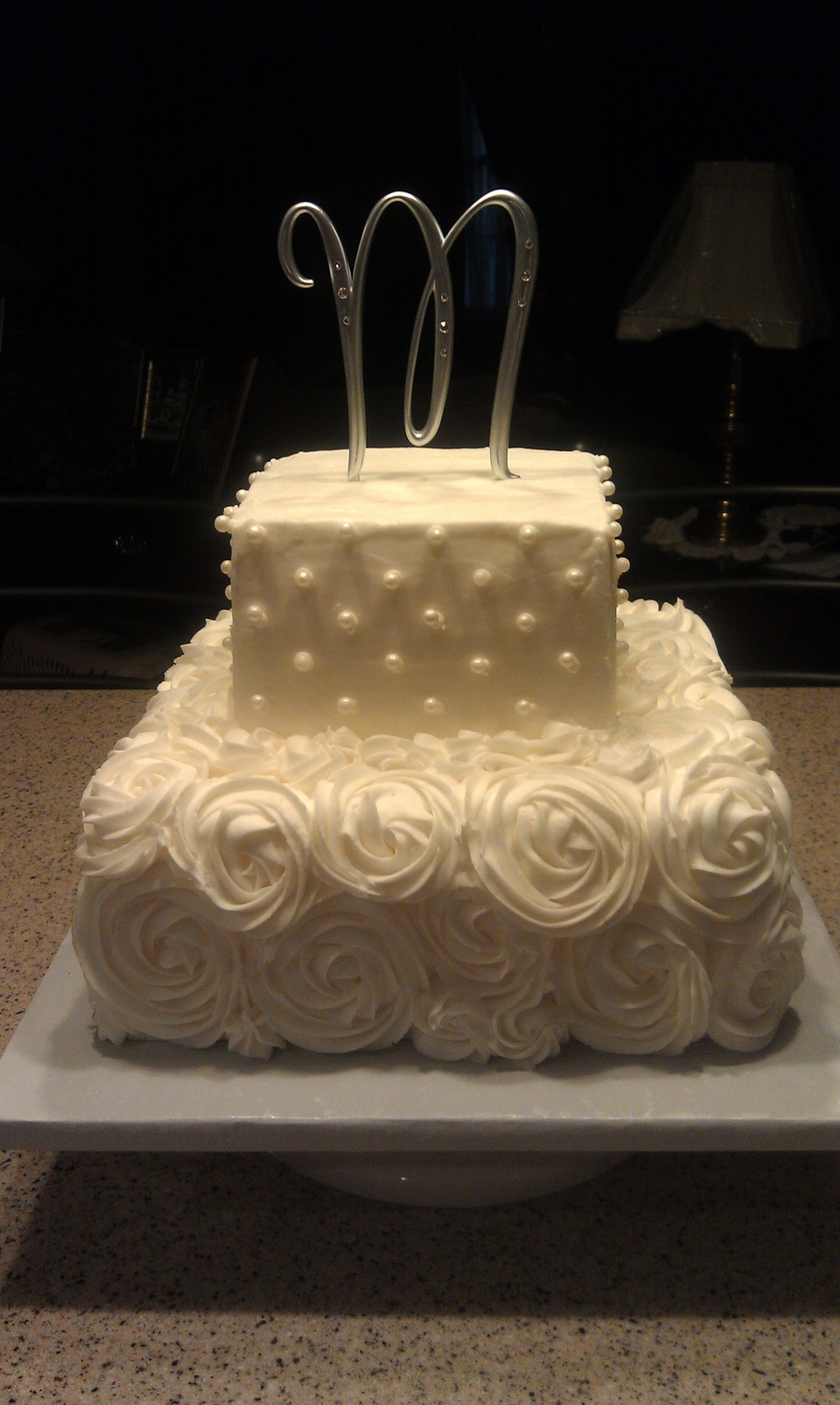 Pearls And Roses on Cake Central