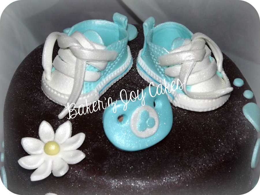 Gumpastefondant Converse Shoes And Pacifier on Cake Central