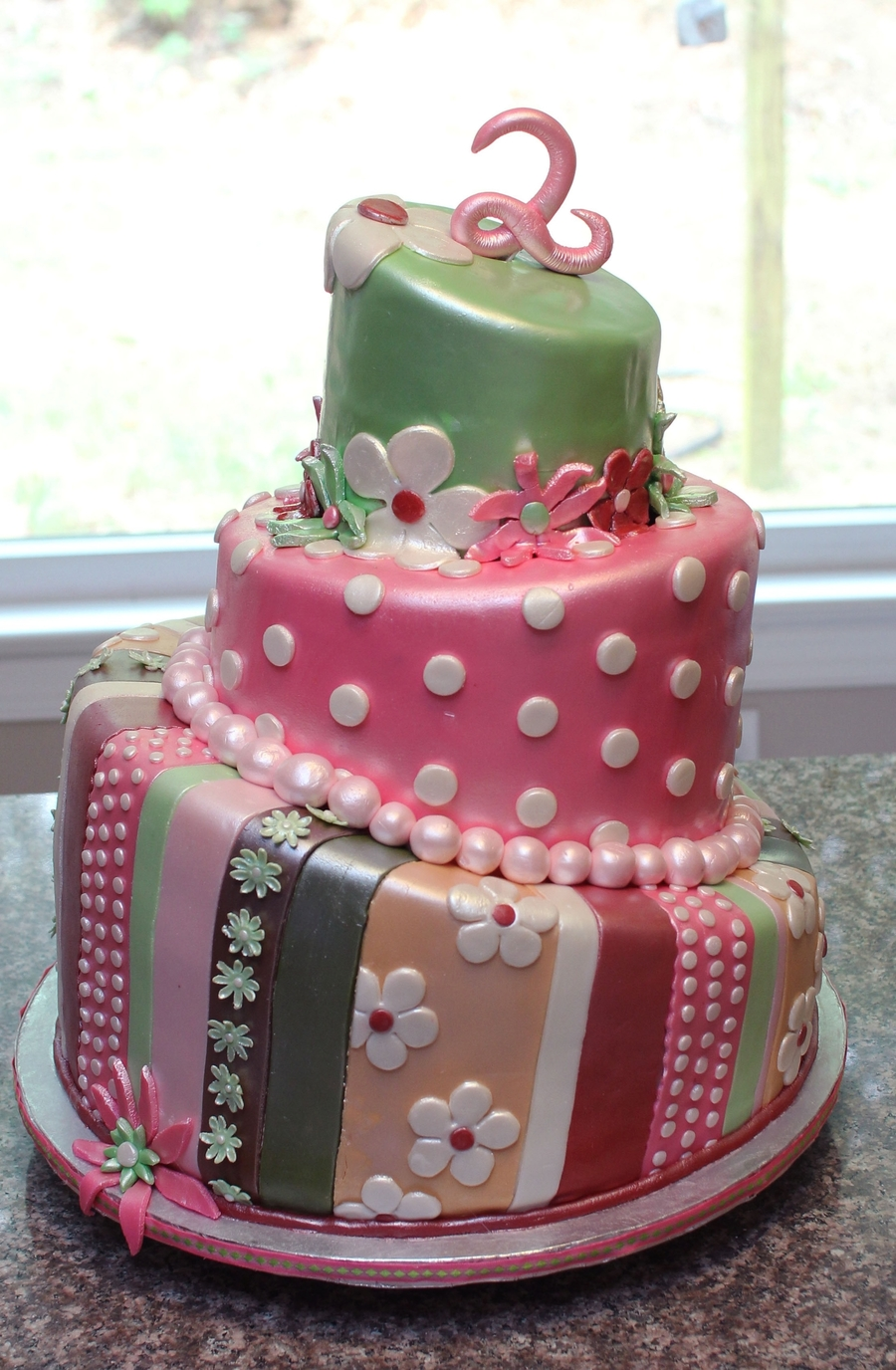 2Nd Birthday Girly Topsy Turvy on Cake Central
