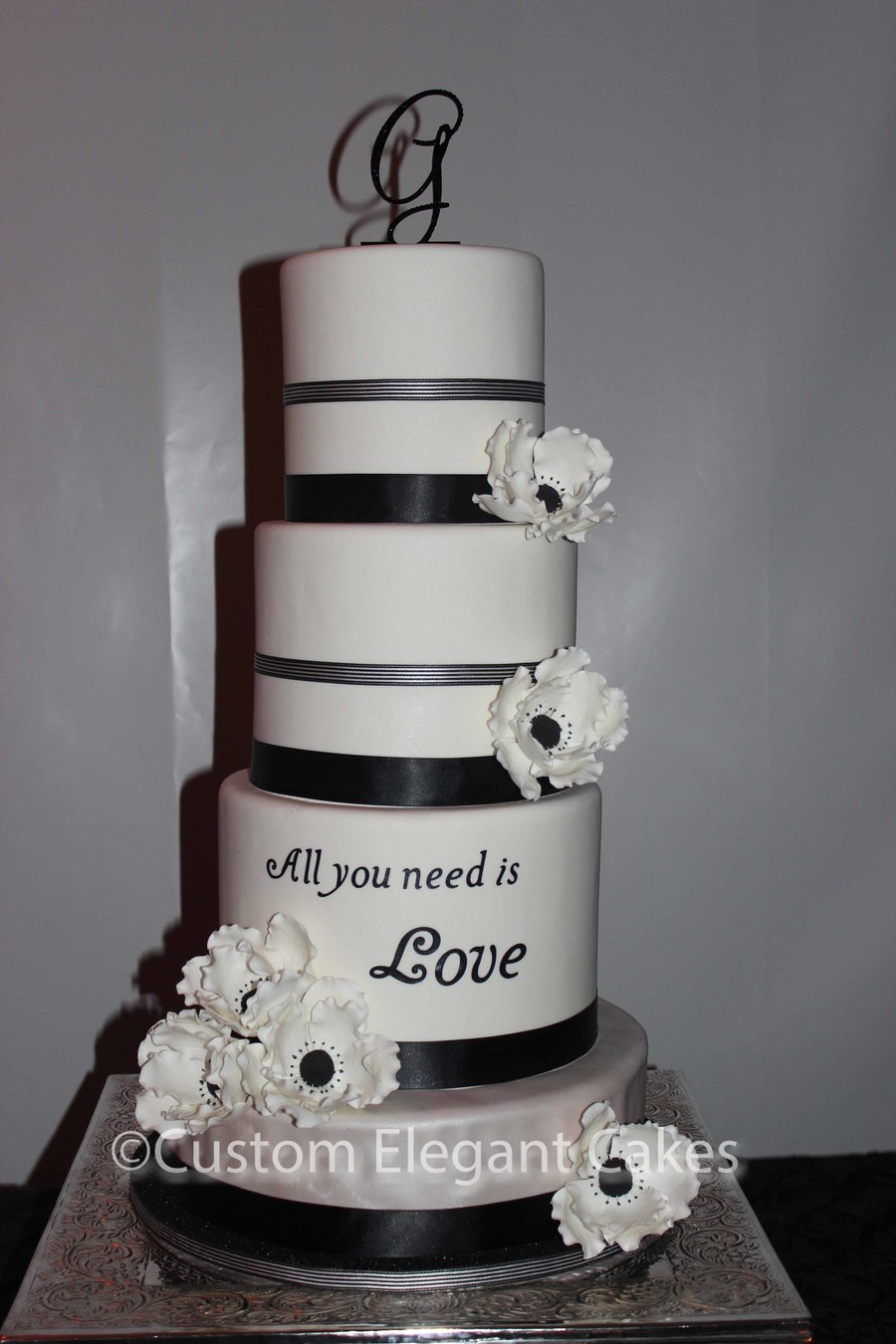 All You Need Is Love Wedding Cake on Cake Central