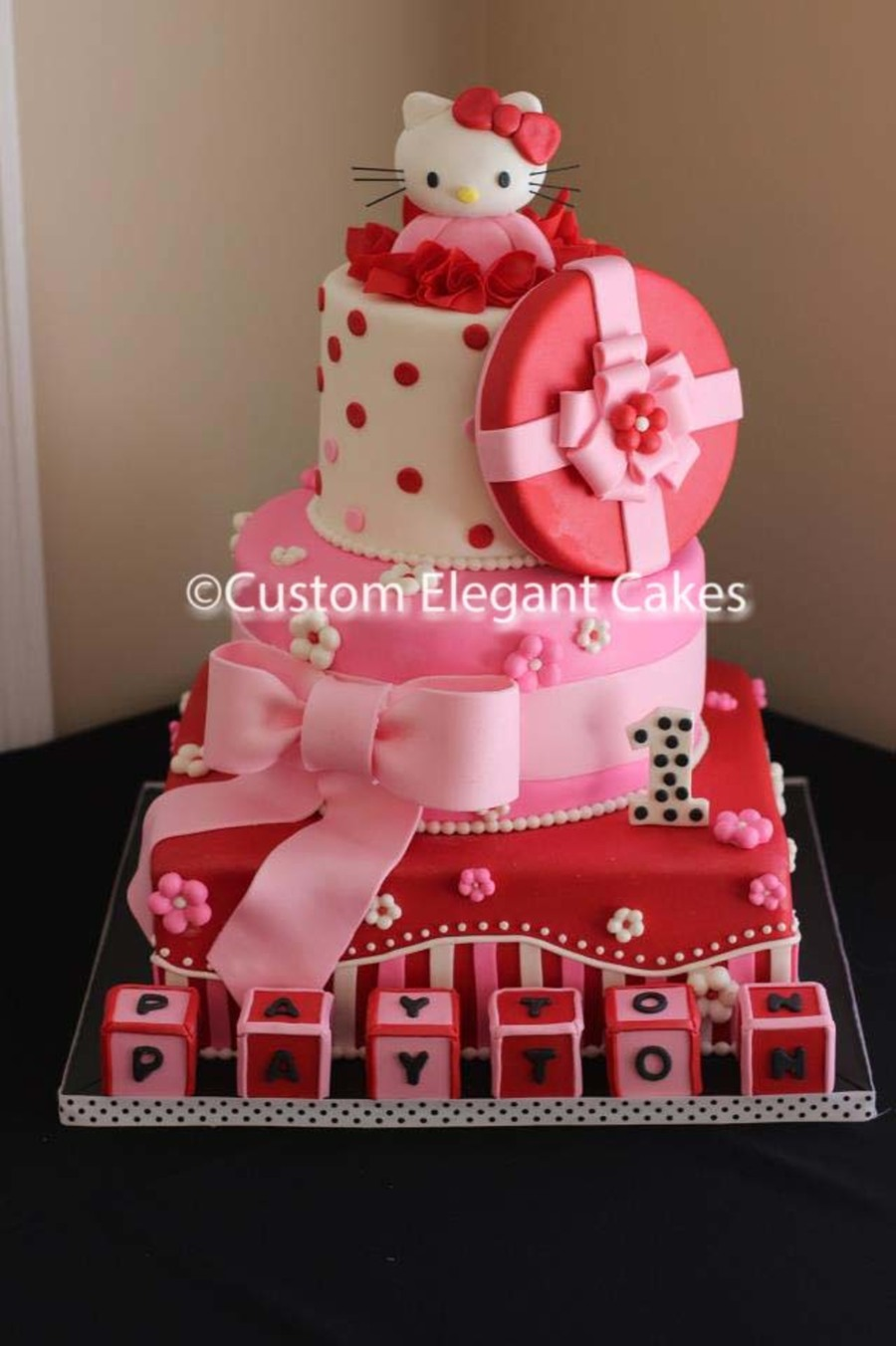 Prime Hello Kitty Birthday Cake Cakecentral Com Funny Birthday Cards Online Inifodamsfinfo