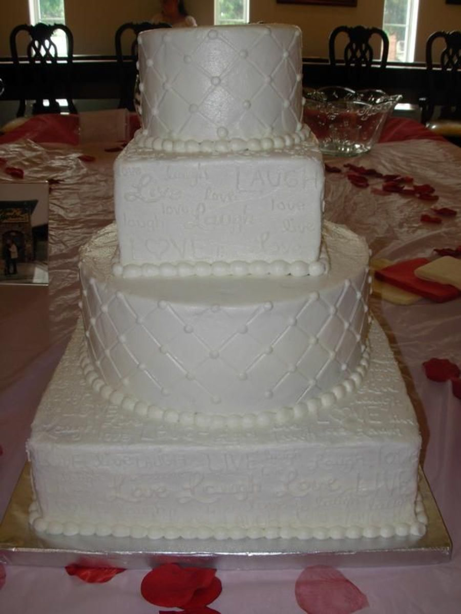 Live Laugh Love Wedding on Cake Central
