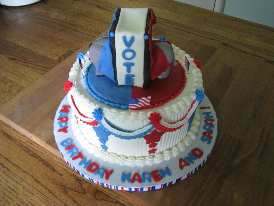 Political Convention Birthday on Cake Central