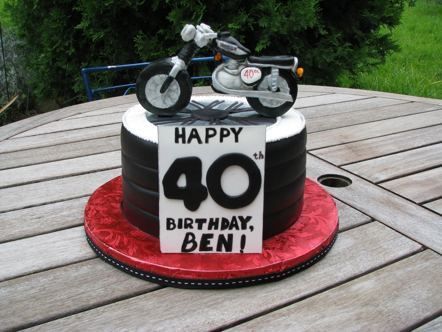 Excellent Triumph Motorcycle Birthday Cakecentral Com Personalised Birthday Cards Epsylily Jamesorg