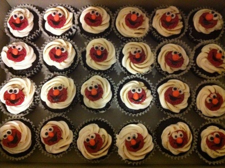 Elmo Cupcakes on Cake Central