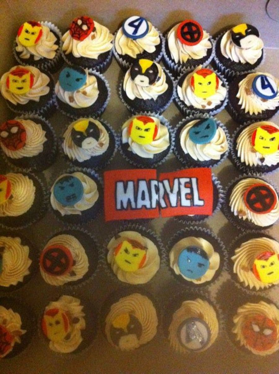 Marvel Comics Cupcakes on Cake Central
