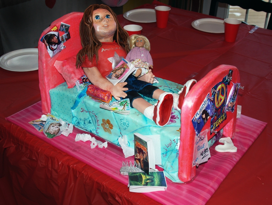Fabulous American Girl Doll Birthday Cake Cakecentral Com Birthday Cards Printable Opercafe Filternl