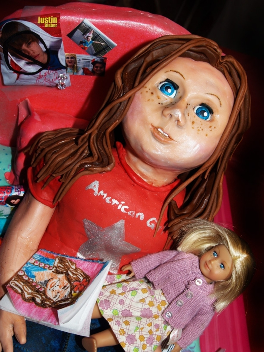 American Girl Doll Birthday Cake CakeCentralcom
