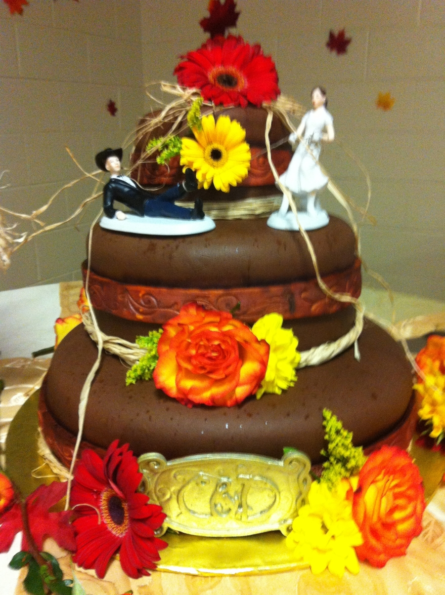 Country Western Wedding Cake - CakeCentral.com