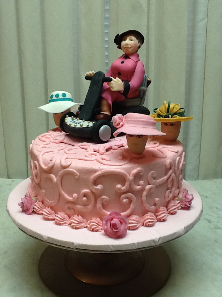 For Ladies 90th Birthday She Loves Her Hats And Wears Them To Church Every Sunday Decorations Are Gumpaste With Buttercream Icing