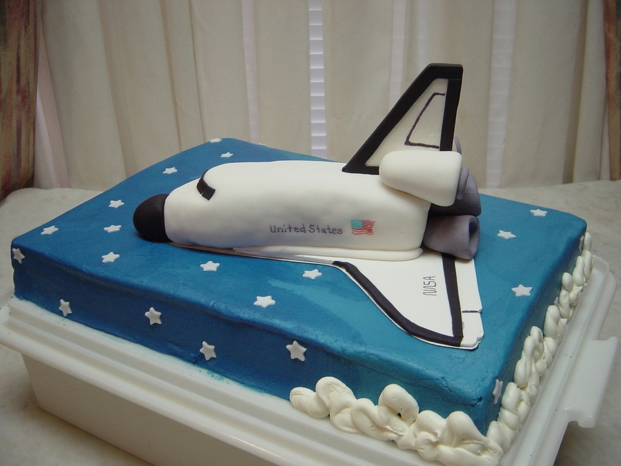 Swell Space Shuttle Cakecentral Com Personalised Birthday Cards Vishlily Jamesorg