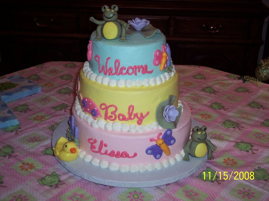 Froggie Love Baby Shower on Cake Central