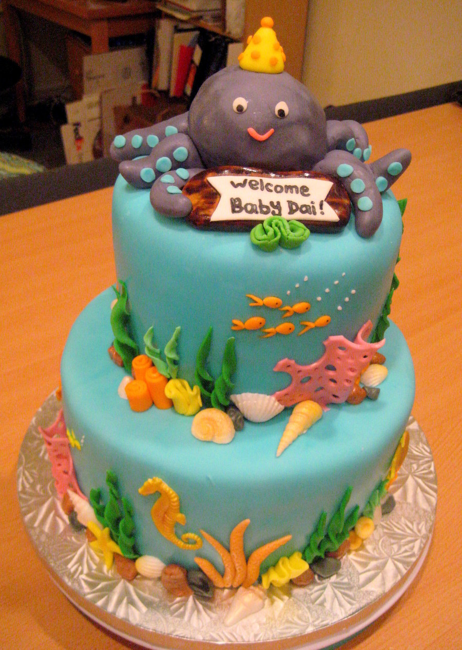 Underwater Theme Chocolate Cake