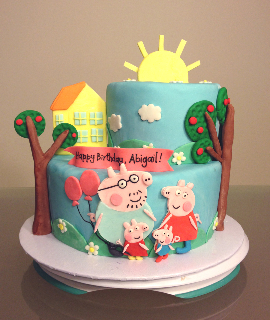Admirable Peppa Pig Birthday Cake Cakecentral Com Personalised Birthday Cards Paralily Jamesorg