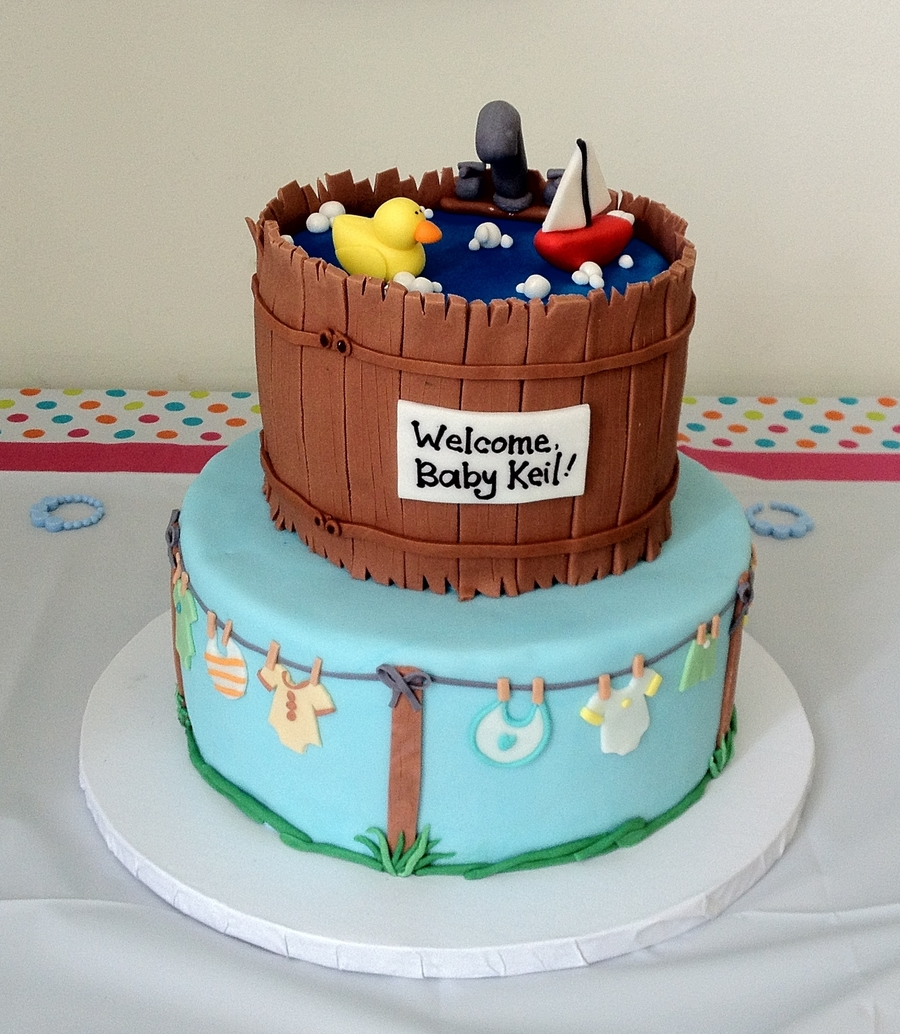 baby shower tub cake on cake central
