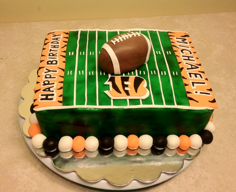 Cincinnati Bengals Birthday Cake on Cake Central